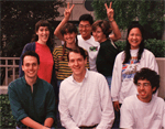 David Kingsley Lab Photo in Front of the Beckman Center at Stanford University.