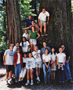 David Kingsley's Lab Picnic at Redwoods State Park